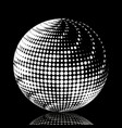 set abstract halftone 3d spheres 19 vector image