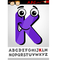 funny letter k cartoon vector image