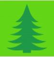Polygon style Christmas fir tree Matt inlay vector image