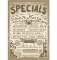 Vintage Graphic Page Menu for Bar or Restaurant vector image