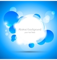 Abstract background with blue and white circles vector image vector image