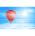 Red air balloon in the sky vector image