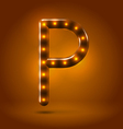 Glossy retro caramel sweet backlit up abc vector image