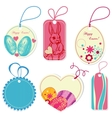 price tags on Easter theme vector image vector image