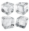 Opaque gray ice cubes vector image