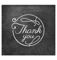 Thank You Wedding Design Element vector image vector image
