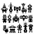 Set of cute black and white monsters vector image