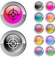 Sight multicolor round button vector image