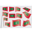 flag of Maldives vector image vector image