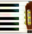 abstract musical background with acoustic guitar vector image