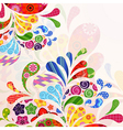 Abstract ornamental floral background vector image