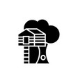 house on tree - tree house icon vector image