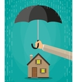 house protection concept vector image