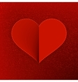 Red paper heart Valentines day card EPS10 vector image