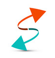 Arrows red and blue arrow vector image