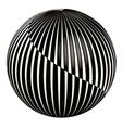 3D abstract ball vector image