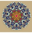 Oriental mandala motif vector image vector image