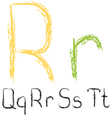 chalk letters vector image vector image