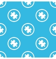Puzzle sign blue pattern vector image