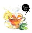 Watercolor hand drawn painted tea vector image