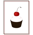background with cake vector image