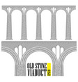 An ancient high stone viaduct constructed of vector image