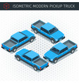 blue pickup car vector image