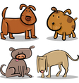 cute cartoon dogs or puppies set vector image