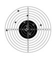 Gun target with bullet holes vector image