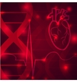 Heart pulse banner vector image