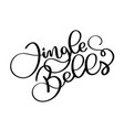 jingle bells black handwriting calligraphic vector image
