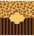 leopard skin background vector image