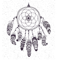Native American Indian Talisman Dreamcatcher with vector image