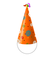 Party Hat with snowflakes vector image