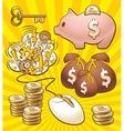 Set to make money vector image
