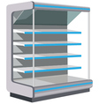 Showcase with empty shelves vector image
