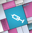 syringe icon sign Modern flat style for your vector image