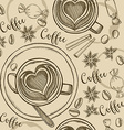 Coffee seamless pattern background vector image vector image