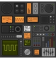 Control Panel UI User Interface HUD Set vector image