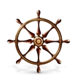 Ships wheel vector image