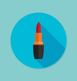 lipstick flat icon with long shadow eps10 vector image