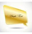 Golden Speech Bubble vector image