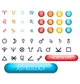 set of zodiac signs and planets vector image