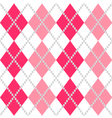 Retro Argyle seamless Pattern in Pink and white vector image vector image