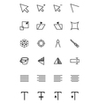 Art Design and Development Icons 4 vector image