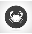 Crab black round icon vector image