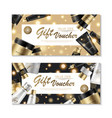 cosmetic gift voucher design vector image