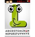 funny letter l cartoon vector image