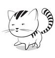 Funny little striped kitten vector image