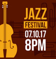 jazz festival music celebration october poster vector image
